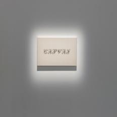 """Germain Hamel, """"Sans titre (Canvas)"""", 2012 Peinture vinylique sur toile. 33 x 46 cm. Photo : Aurélien Mole© ; courtesy Palais de Tokyo."""