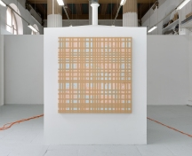 """Marcel Devillers, """"Quadrille des abeilles"""", 2015 papier brouillon, gaffer, feuilles de cuivre. 125x130x5 cm. Photo : Romain Darnaud ; courtesy de l'artiste."""